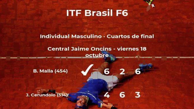 Bastián Malla logra la plaza de las semifinales a expensas del tenista Juan Manuel Cerundolo