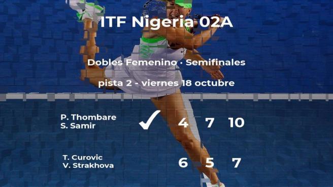 Thombare y Samir se imponen en las semifinales del torneo de Lagos