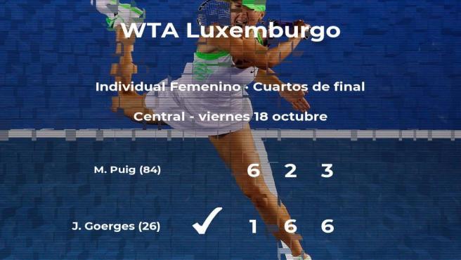 Julia Goerges logra clasificarse para las semifinales a costa de la tenista Mónica Puig