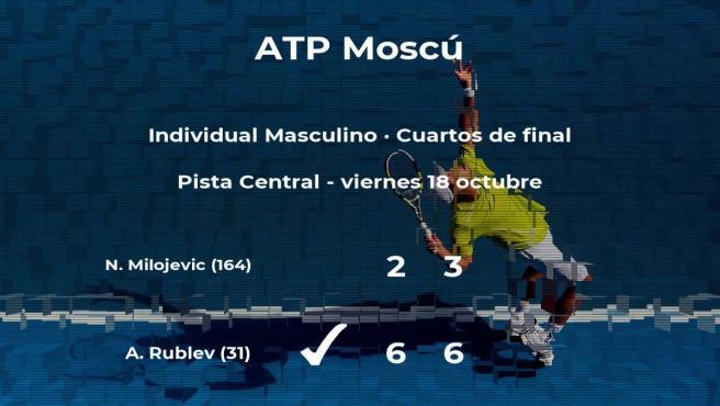 Andrey Rublev pasa a las semifinales del torneo ATP 250 de Moscú