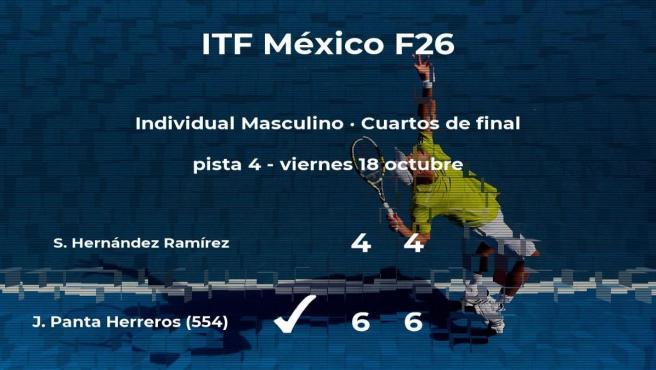 El tenista Jorge Brian Panta Herreros consigue clasificarse para las semifinales a costa de Sergio Luis Hernández Ramírez