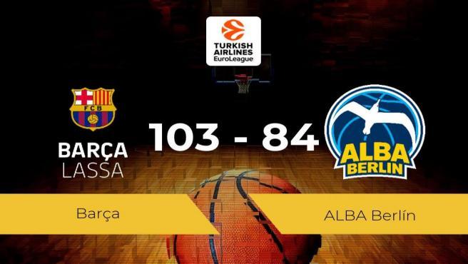 El Barça se impone al ALBA Berlín por 103-84