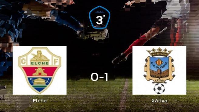 El Olimpic Xátiva deja sin sumar puntos al Elche Ilicitano (0-1)