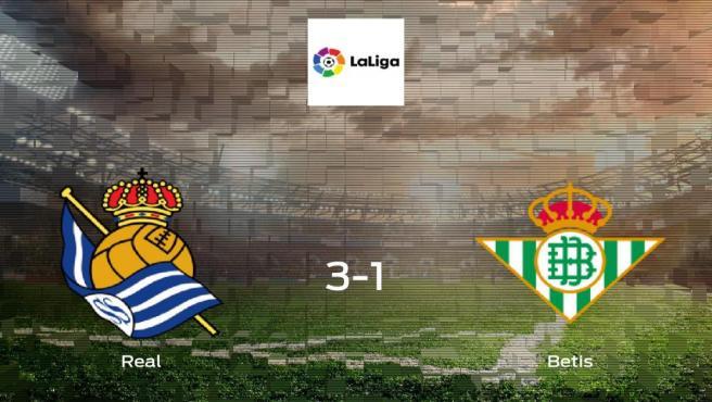 Tres puntos para el equipo local: Real Sociedad 3-1 Real Betis