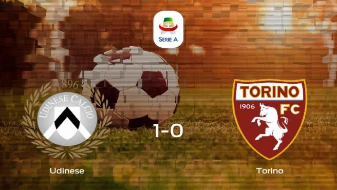 El Udinese gana 1-0 en su estadio frente al Torino