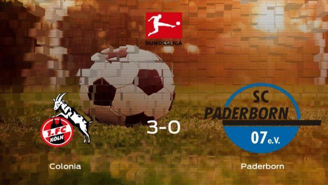 El Colonia consigue los tres puntos en casa tras pasar por encima al Paderborn (3-0)