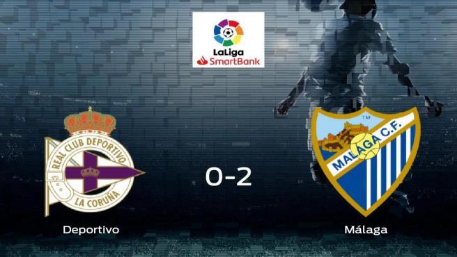 Triunfo del Málaga frente al Deportivo (0-2)