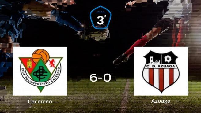 El Cacereño se lleva la victoria tras golear 6-0 al Azuaga