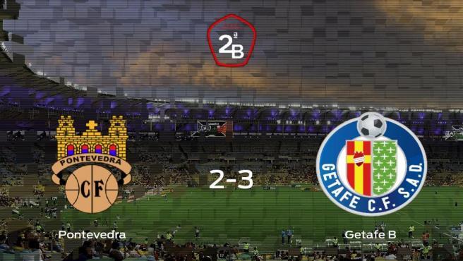 El Getafe B vence 2-3 en el feudo del Pontevedra