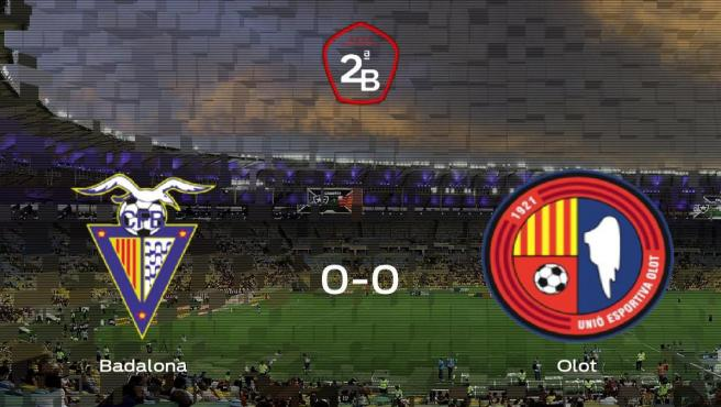 El Badalona y el Olot empatan y se llevan un punto (0-0)
