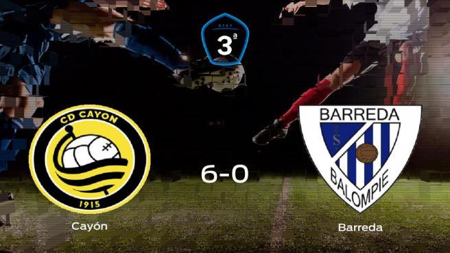 El Cayón se hace con los tres puntos tras golear al Barreda Balompié en casa (6-0)