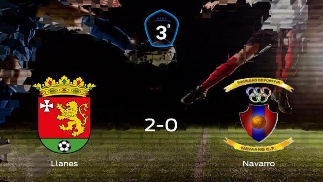 El Llanes gana 2-0 al Navarro en el San José