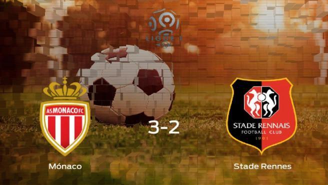 El AS Mónaco logra la victoria tras vencer 3-2 al Stade Rennes