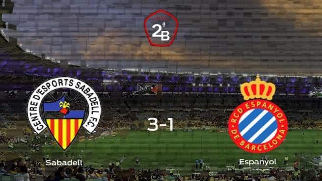 El Sabadell vence 3-1 en su estadio frente al Espanyol B