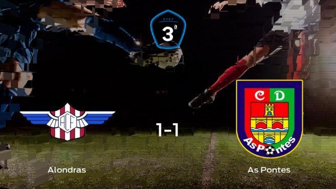 El Alondras y el As Pontes empatan y se llevan un punto (1-1)