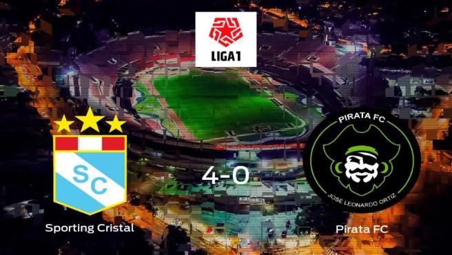 El Sporting Cristal suma tres puntos tras golear al Pirata FC en casa (4-0)