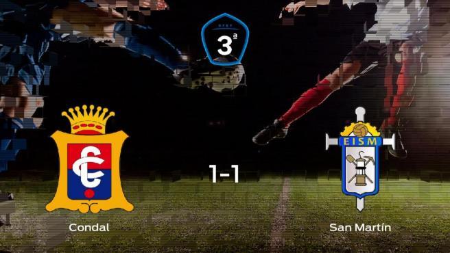 El San Martín saca un punto al Condal a domicilio (1-1)