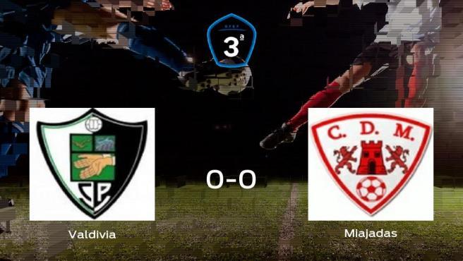 El Valdivia y el Miajadas se reparten los puntos en el Primero de Mayo (0-0)