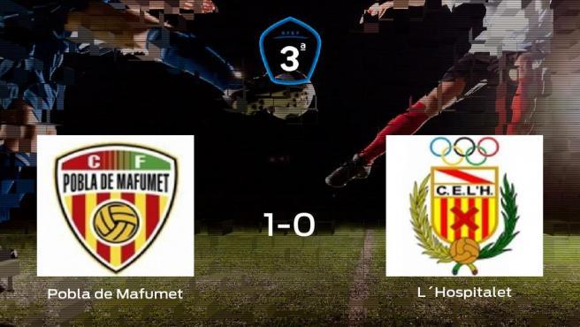El CF Pobla de Mafumet vence 1-0 en su estadio frente al L´Hospitalet