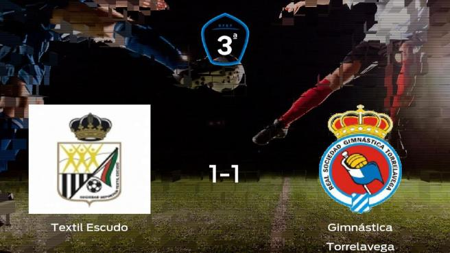 Reparto de puntos entre el SD Textil Escudo y la Gimnástica Torrelavega (1-1)