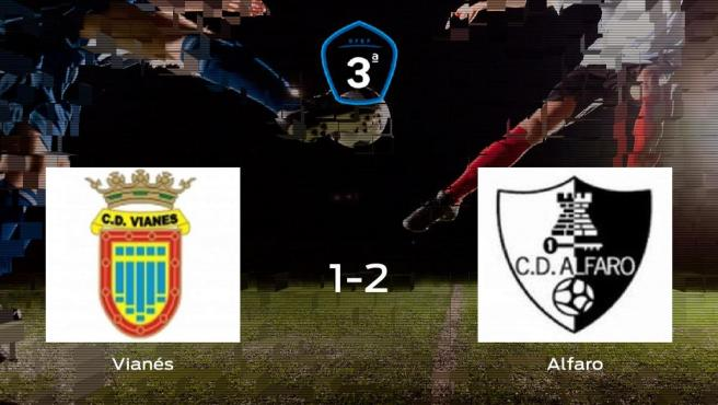 El Alfaro se lleva tres puntos a casa después de derrotar 1-2 al Vianés