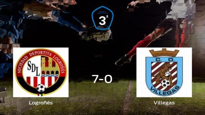El Logroñés consigue los tres puntos en casa tras pasar por encima al Villegas (7-0)