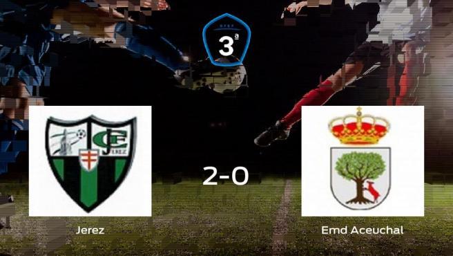 El Jerez logra la victoria tras ganar 2-0 al Emd Aceuchal