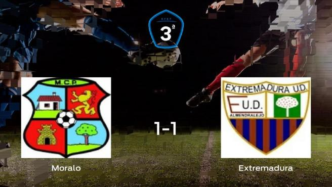 El Moralo y el Extremadura B solo suman un punto (1-1)