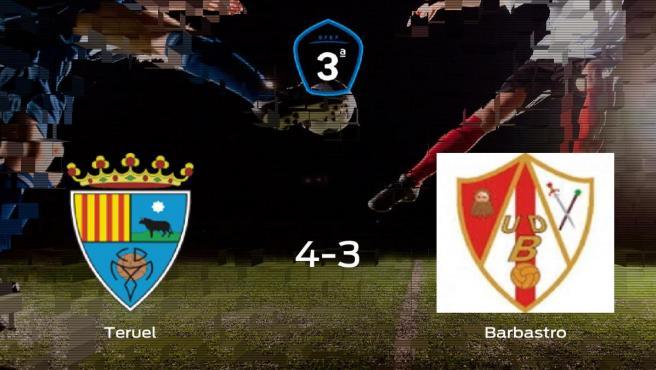 El Teruel gana en casa al Barbastro por 4-3