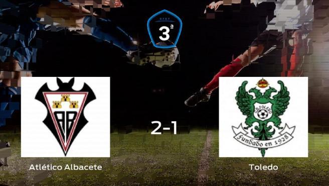 Los tres puntos se quedan en casa tras el triunfo del Atlético Albacete ante el Toledo (2-1)