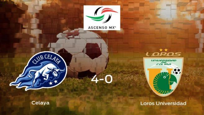 El Celaya suma tres puntos tras golear al Loros Universidad en casa (4-0)