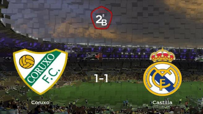 El Coruxo y el RM Castilla empatan y se llevan un punto (1-1)