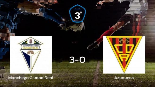 Tres puntos para el casillero del Ciudad Real tras pasar por encima al Azuqueca (3-0)