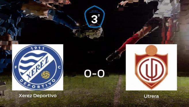 El Xerez Deportivo y el Utrera empatan y suman un punto a su casillero (0-0)