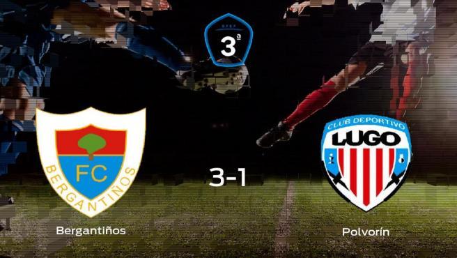 El Bergantiños vence 3-1 al Polvorín y se lleva los tres puntos