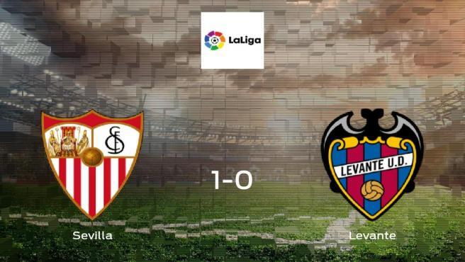 El Sevilla logra la victoria después de vencer 1-0 al Levante