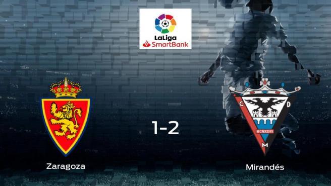El CD Mirandés se impone al Real Zaragoza y consigue los tres puntos (1-2)