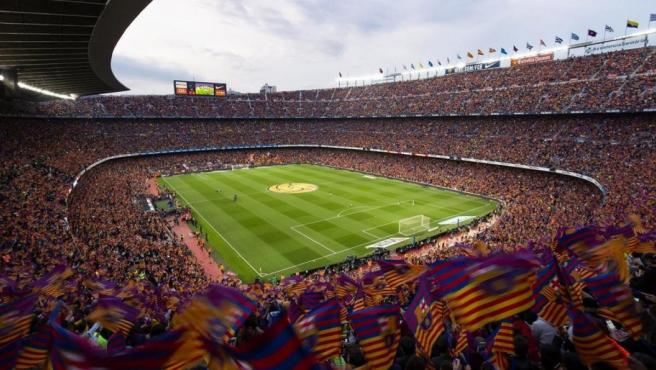 Imagen panorámica del estadio Camp Nou