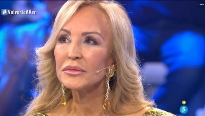 Carmen Lomana, en 'Volverte a ver' (Telecinco).