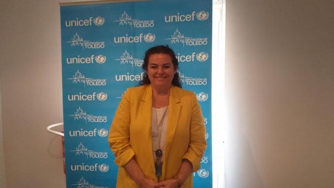 La presidenta de Unicef Comité Castilla-La Mancha, Asunción Díaz, en la sede del organismo en Toledo.