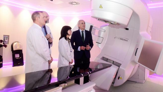Imagen del nuevo acelerador lineal instalado en el Hospital de Fuenlabrada.