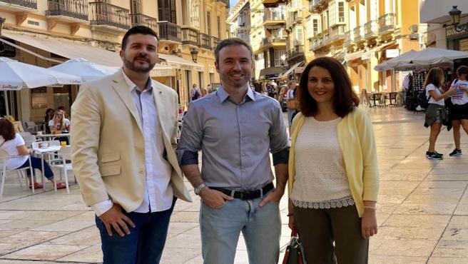 El número uno de Ciudadanos al Congreso por Málaga, Guillermo Díaz, ofrece una rueda de prensa sobre las propuestas del partido en materia de conciliación y familias.
