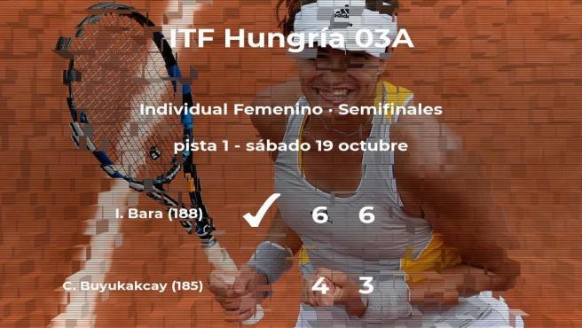 Irina Maria Bara gana en las semifinales del torneo de Szekesfehervar
