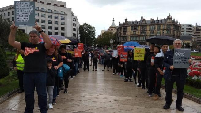 Movilización en Bilbao contra la trata de personas.
