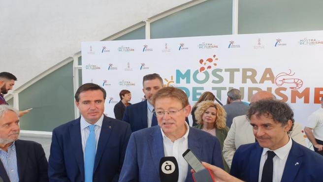Puig atiende a los medios en su visita a la II Mostra de Turisme de la Comunitat Valenciana