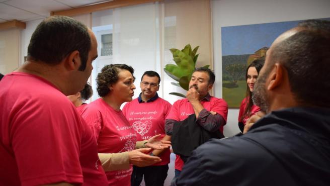 Valerio, en la marcha contra el cáncer en Alcuéscar