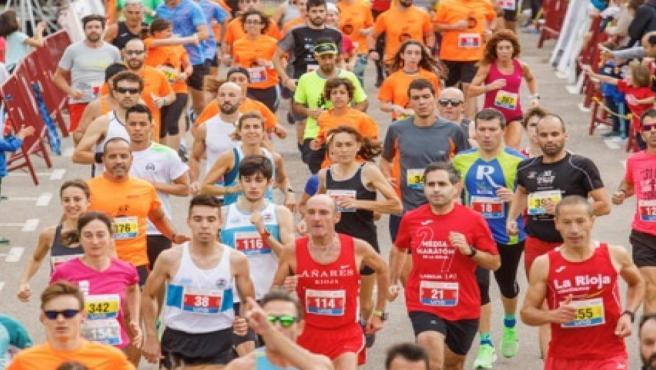 XVI Carrera Berceo-Tres Parques celebrada esta mañana en Logroño