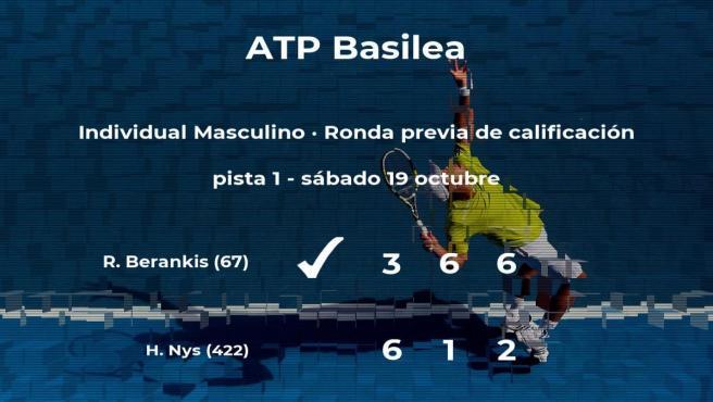 El tenista Ricardas Berankis pasa a la siguiente fase del torneo ATP 500 de Basilea