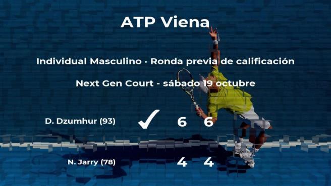 El tenista Damir Dzumhur pasa a la siguiente fase del torneo ATP 500 de Viena