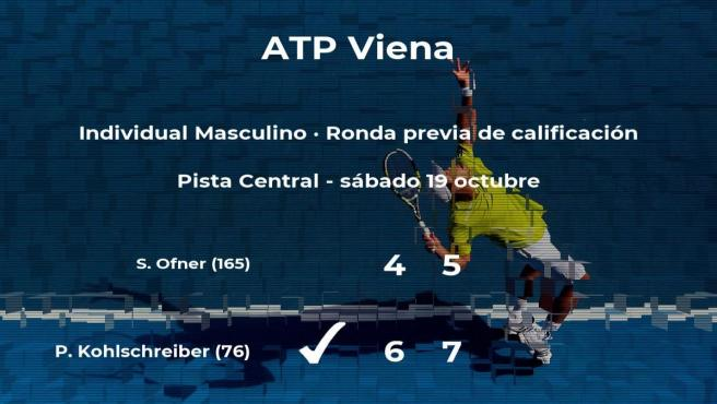 El tenista Philipp Kohlschreiber pasa a la siguiente fase del torneo ATP 500 de Viena